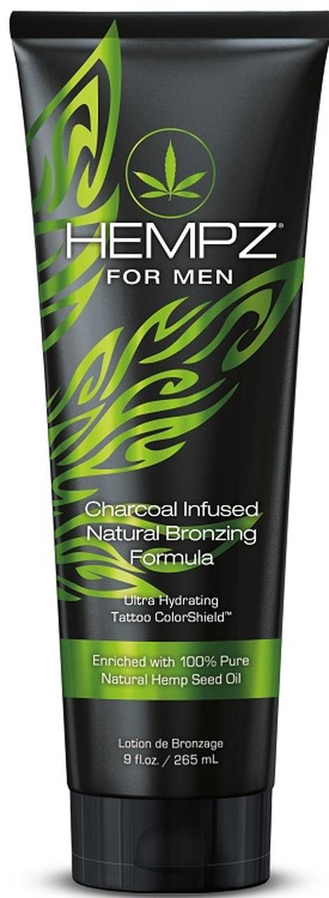 Bella Tan Hempz Men Natural Tanning Bronzer Charcoal Infused Lotion